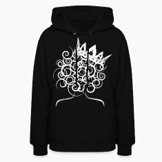 Curly Queen with Crown_ GlobalCouture Hoodies