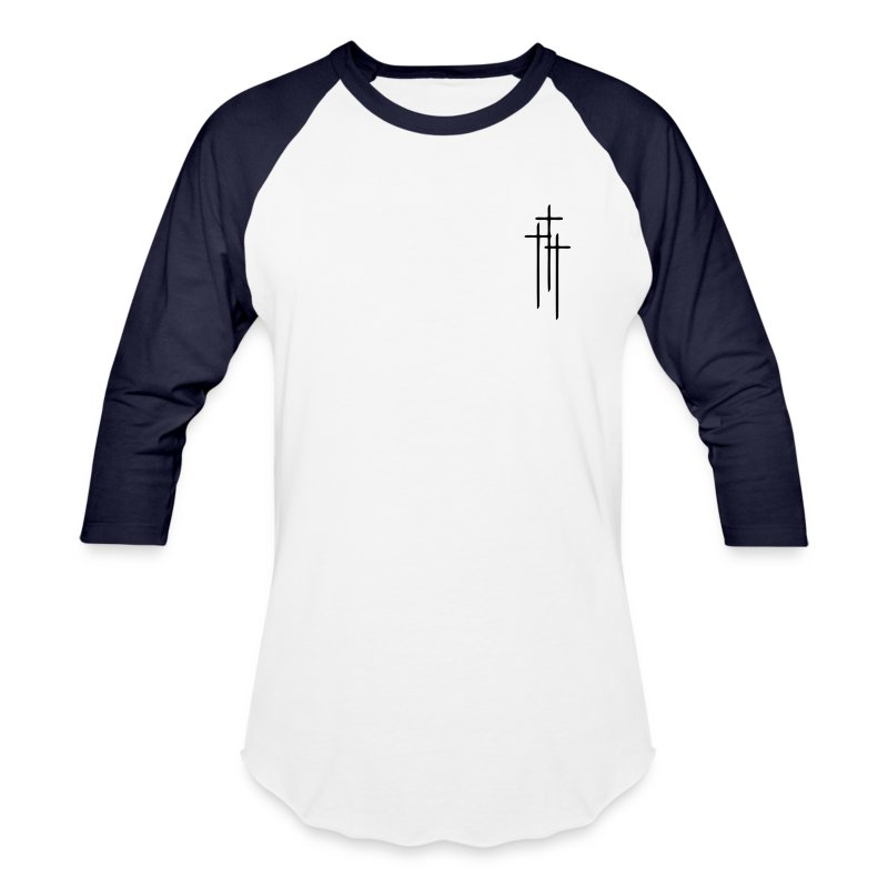 3 Crosses ( Vector Graphic ) - Baseball T-Shirt