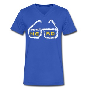 nerd - Men's V-Neck T-Shirt by Canvas