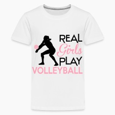 Real girls play volleyball Kids' Shirts