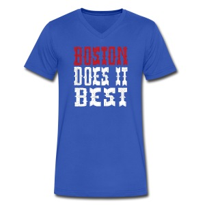 Boston Does It Best - Men's V-Neck T-Shirt by Canvas