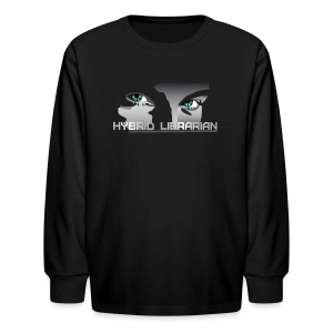 Hybrid Librarian Kids Longsleeve Shirt - Kids' Long Sleeve T-Shirt