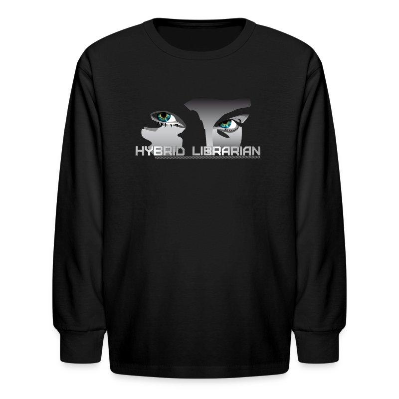 Hybrid Librarian Kids Longsleeve Shirt - Kids' Long Sleeve T-Shirt