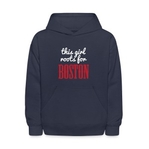 This Girl Roots For Boston - Kids' Hoodie