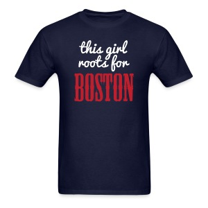 This Girl Roots For Boston - Men's T-Shirt