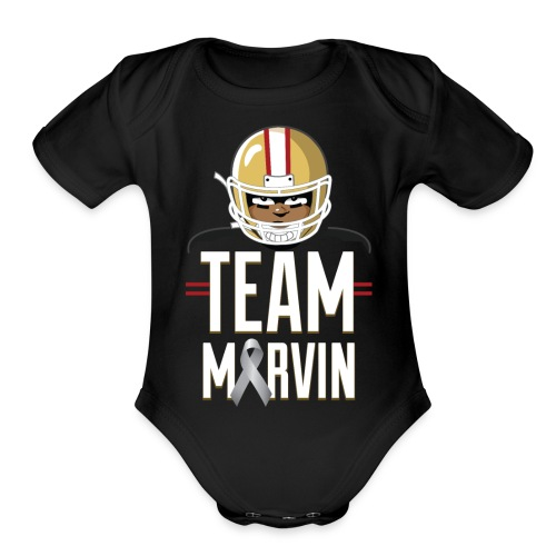 Team Marvin Baby Short Sleeve One Piece - Organic Short Sleeve Baby Bodysuit