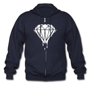 Bloody Diamond - Men's Zip Hoodie