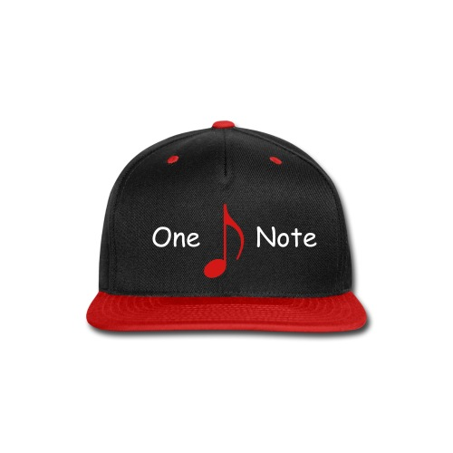 One Note Baseball Cap - Snap-back Baseball Cap