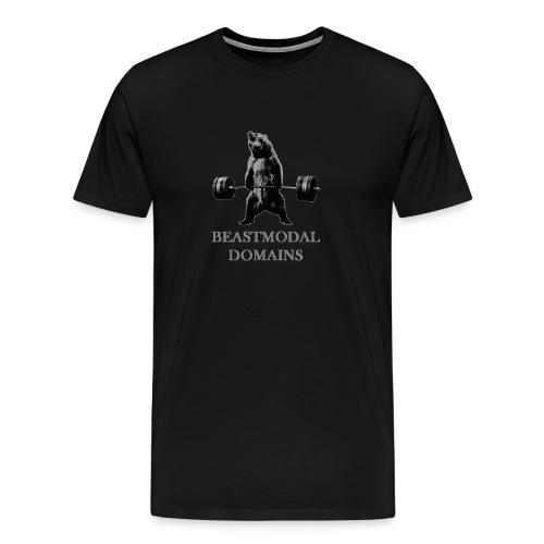 Deadlift Bear on front- Men's - Men's Premium T-Shirt