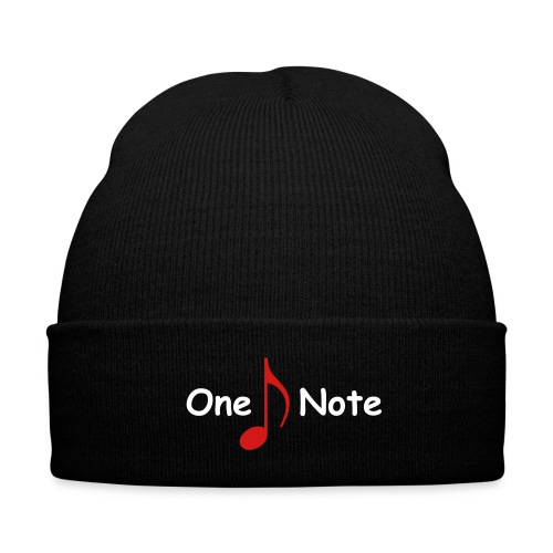 One Note Cap - Knit Cap with Cuff Print