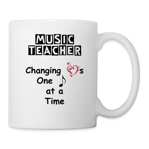 Music Teacher Changing Hearts Mug - Coffee/Tea Mug