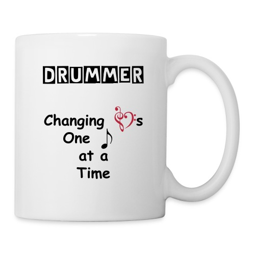 Drummer Changing Hearts Mug - Coffee/Tea Mug