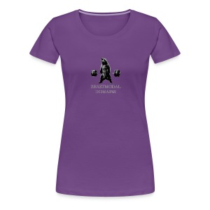 Ladies Deadlift Bear (on front) T-shirt - Women's Premium T-Shirt
