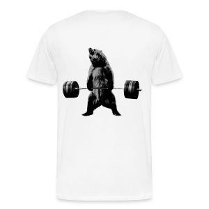 Deadlift Bear on white - Men's Premium T-Shirt