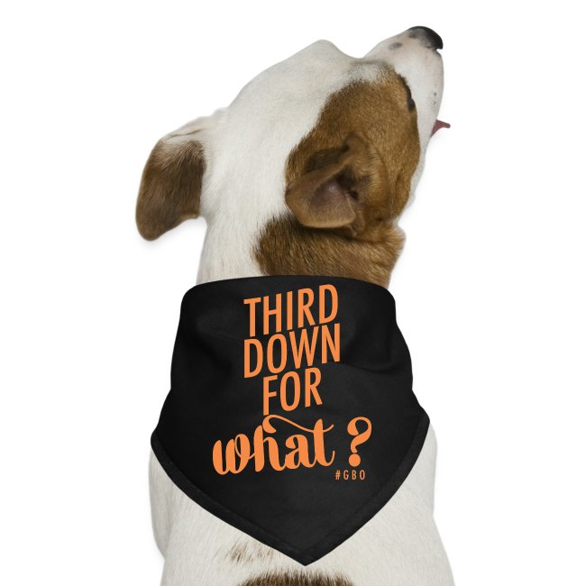 #GBO: Third Down For What Dog Bandana
