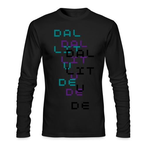 Dallitude Chill Black - Men's Long Sleeve T-Shirt by Next Level