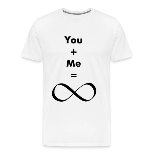 you + me = infinity - Men's Premium T-Shirt