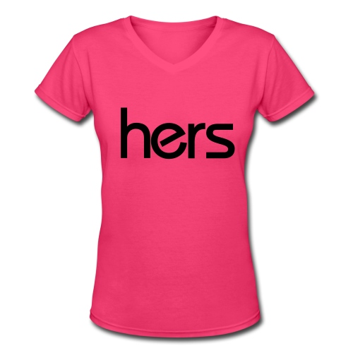 Hers V-Neck - Women's V-Neck T-Shirt