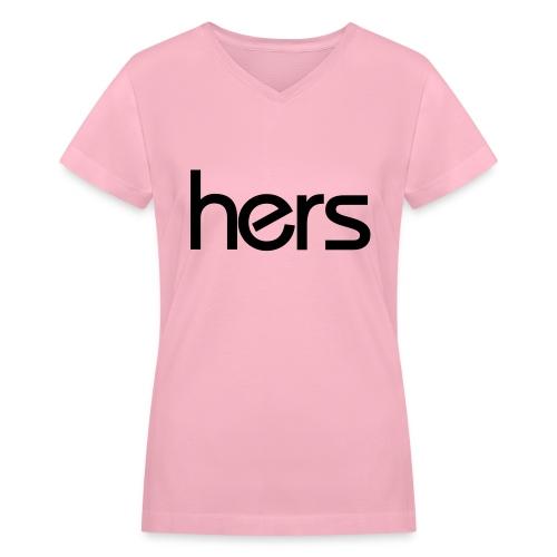 Hers V-Neck - Women's V-Neck T-Shirt