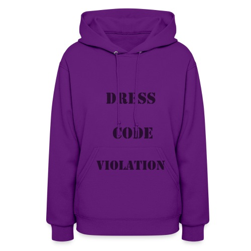 """Women's Hoodie - Dress Code Violation Great spin on the recent """"shame suit"""" made popular by Florida school. Wear it with pride, great fashion statement. Indulge the rebel within!"""