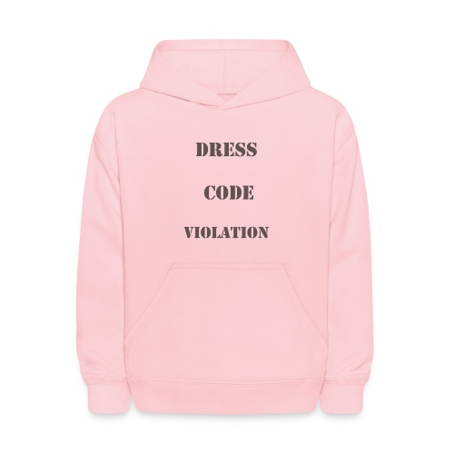"Kids' Hoodie - Dress Code Violation Great spin on the recent ""shame suit"" made popular by Florida school. Wear it with pride, great fashion statement. Indulge the rebel within!"