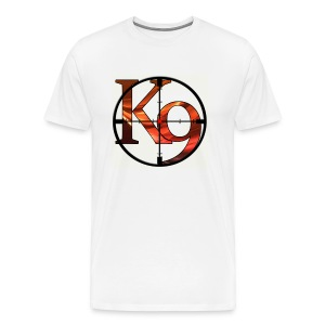 K9 Clan Tee with Red Logo and Customisable Lettering - Men's Premium T-Shirt