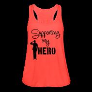 Tanks ~ Women's Flowy Tank Top by Bella ~ Support my Hero Salute