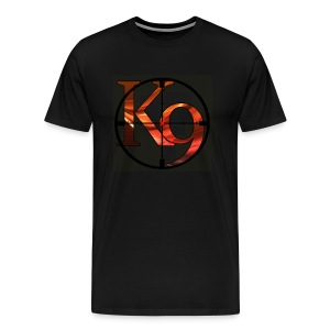 K9 Clan Tee with Red Logo and Customisable Lettering and sleeve printing. - Men's Premium T-Shirt