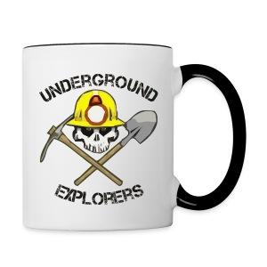 Underground Explorers Coffee Mug (white/black) - Contrast Coffee Mug