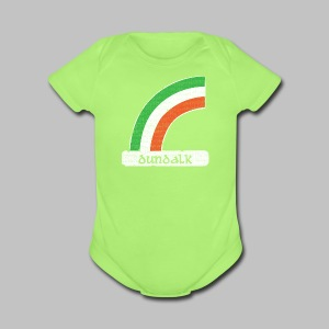 Dundalk Ireland Rainbow - Short Sleeve Baby Bodysuit