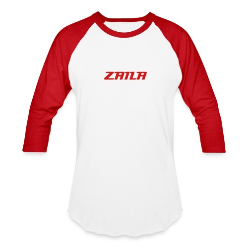 Zaila Sniping Text Baseball Tee - Baseball T-Shirt