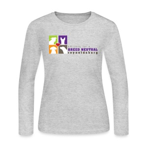 Women's Long Sleeve Jersey T-Shirt - t-shirt,pit bull,dog,breed specific legislation,breed discrimination,breed ban,animal,Reynoldsburg,Freedom of dog,BSL,BDL