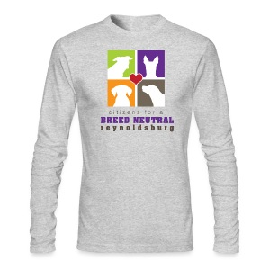 Men's Long Sleeve T-Shirt by Next Level - t-shirt,pit bull,dog,breed specific legislation,breed discrimination,breed ban,animal,Reynoldsburg,Freedom of dog,BSL,BDL