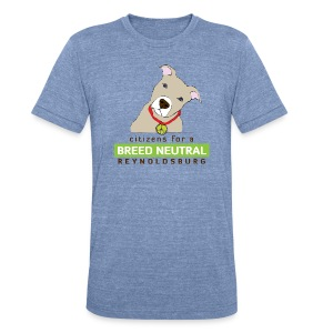 Unisex Tri-Blend T-Shirt - t-shirt,pit bull,dog,breed specific legislation,breed discrimination,breed ban,animal,Reynoldsburg,Freedom of dog,BSL,BDL