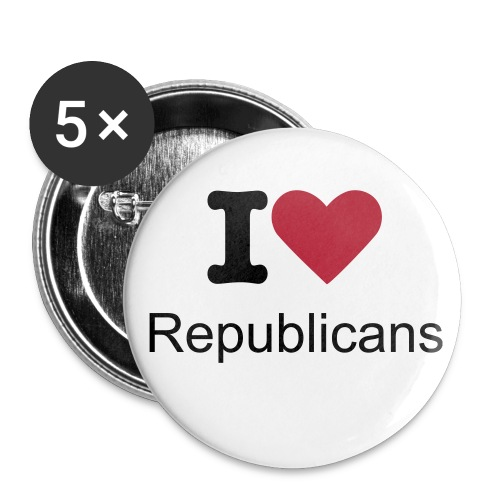 I Love Republicans - Large Buttons