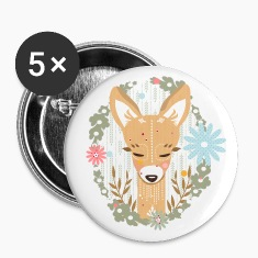 A deer in the forest  Buttons