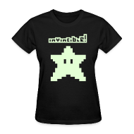 T-Shirts ~ Women's T-Shirt ~ Invincible! (Glow in the Dark)