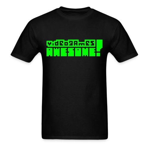 Neon Green Logo - Men's T-Shirt