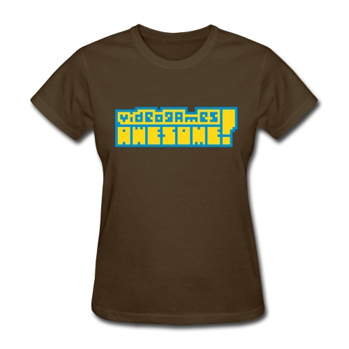 Yellow on Blue Logo - Women's T-Shirt