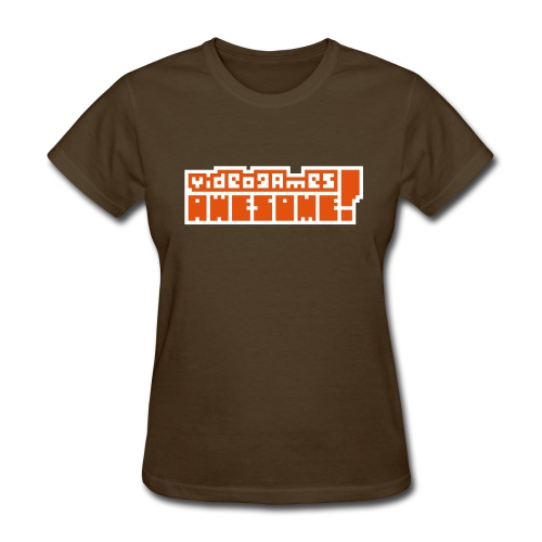 Orange on White Logo - Women's T-Shirt