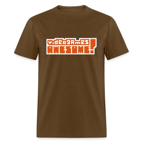 Orange on White Logo - Men's T-Shirt