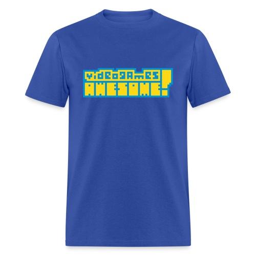 Yellow on Blue Logo - Men's T-Shirt