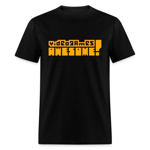 Neon Orange Logo - Men's T-Shirt