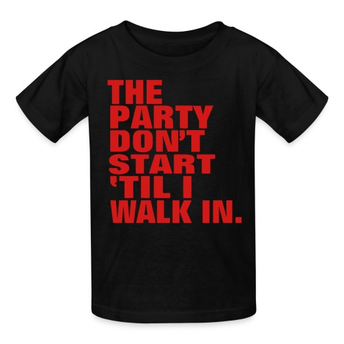 Party dont start - Kids' T-Shirt