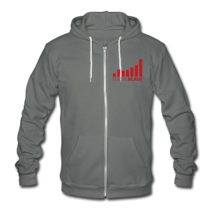 Social Blade Red Logo Zip Hoodie - Unisex Fleece Zip Hoodie by American Apparel