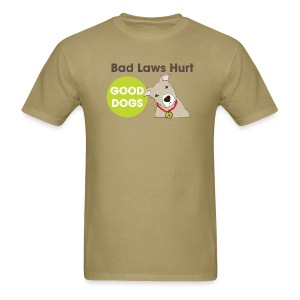Men's T-Shirt - t-shirt,pit bull,dog,breed specific legislation,breed discrimination,breed ban,animal,Reynoldsburg,Freedom of dog,BSL,BDL