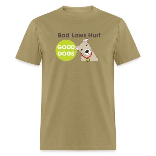 Men's T-Shirt - t-shirt,pit bull,dog,breed specific legislation,breed discrimination,breed ban,animal,Reynoldsburg,Freedom of dog,BSL,BDL