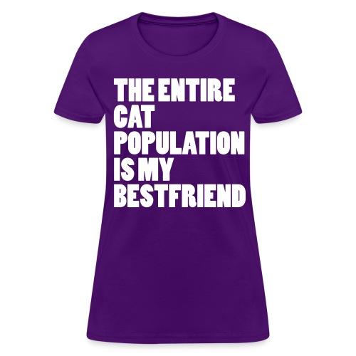 Cat Population - Tshirt (white) - Women's T-Shirt