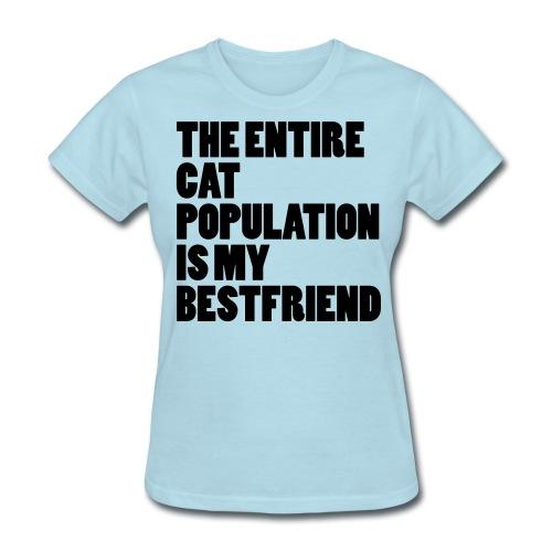 Cat Population - Tshirt (black) - Women's T-Shirt