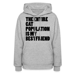 Cat Population - Hoodie (black) - Women's Hoodie